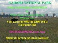 Presentation on the Nairobi Protected Area by Wilson Korir - UNEP