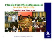 Integrated Solid Waste Management Wuxi New District PRC ... - UNEP