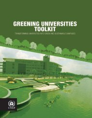 Greening University Toolkit - UNEP