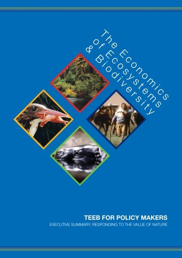 TEEB for policy makers - UNEP
