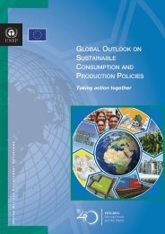 global outlook on sustainable consumption and production ... - DTIE