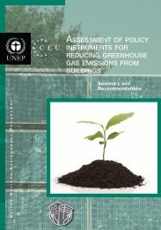 Assessment of Policy Instruments for Reducing Greenhouse ... - UNEP