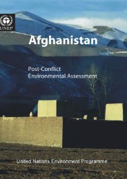 Afghanistan Post-Conflict Environmental Assessment