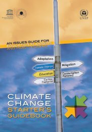 Climate change starter's guidebook: an issues guide for ... - UNEP