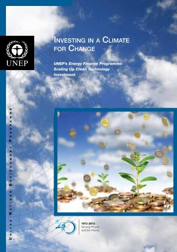 INVESTING IN A CLIMATE FOR CHANGE - UNEP