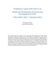 Civil Society Consultation on Models and Mechanisms of ... - UNEP