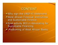 CONTENT - UNEP Finance Initiative