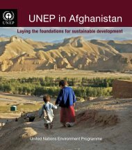UNEP in Afghanistan-Laying the foundations for sustainable ...