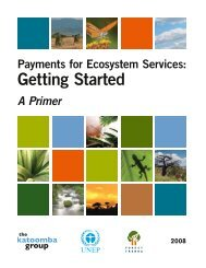 Payments for Ecosystem Services: Getting Started. A Primer - UNEP