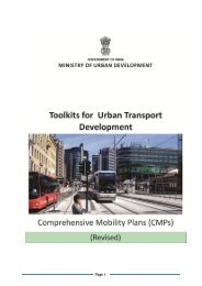 Toolkits for Urban Transport Development - UNEP