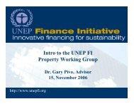 Property Working Group GreenBuild Presentation - UNEP Finance ...