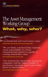 The Asset Management Working Group - UNEP Finance Initiative