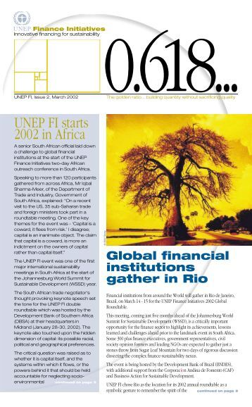 Issue 2 - UNEP Finance Initiative