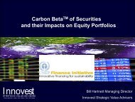 Carbon Beta of Securities and their Impacts on Equity Portfolios
