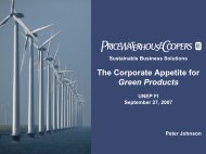 The Corporate Appetite for Green Products - UNEP Finance Initiative