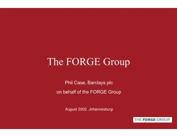 The FORGE Group - UNEP Finance Initiative