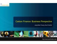 Carbon Finance: Business Perspective - UNEP Finance Initiative