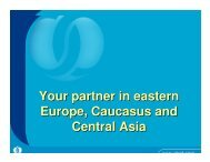 EBRD - Your partner in eastern Europe, Caucasus and Central Asia