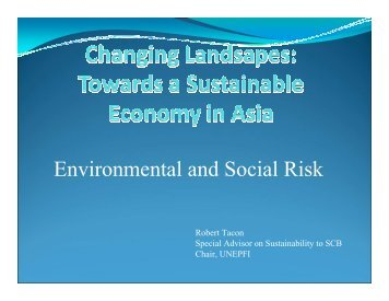 Environmental and Social Risk - UNEP Finance Initiative
