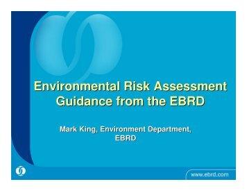 Environmental risk assessment - UNEP Finance Initiative