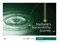 Nedbank's Sustainability Journey - UNEP Finance Initiative