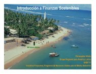 Introducción a Finanzas Sostenibles - UNEP Finance Initiative