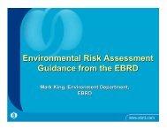 EBRD case studies on environmental risk management