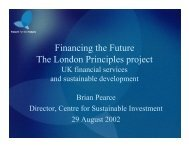 Financing the Future The London Principles project - UNEP Finance ...