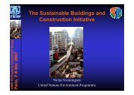 The Sustainable Buildings and Construction Initiative