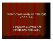 la finance au coeur des traditions africanes - UNEP Finance Initiative