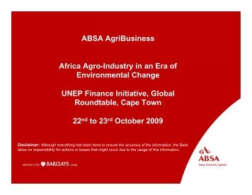 Africa Agro-Industry in an Era of Environmental Change