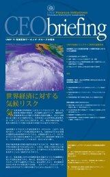 世界経済に対する 気候リスク - UNEP Finance Initiative