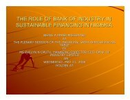 the role of bank of industry in sustainable financing in nigeria