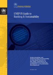UNEP FI Guide to Banking & Sustainability - UNEP Finance Initiative