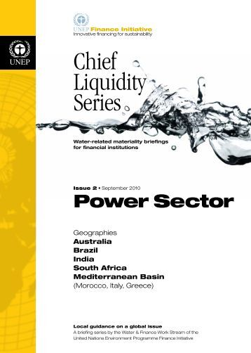 Chief Liquidity Series - Issue 2: Power Sector - UNEP Finance Initiative