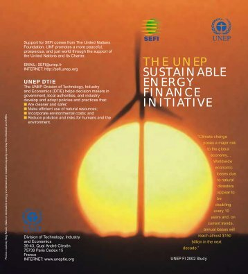 Sustainable Energy Finance Initiative (SEFI) - UNEP Finance Initiative
