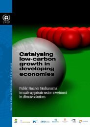 Catalysing low-carbon growth in developing economies: Public
