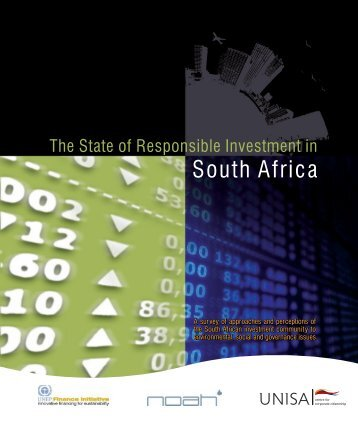 [PDF] The state of responsible investment in South Africa