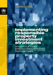 Implementing responsible property investment strategies