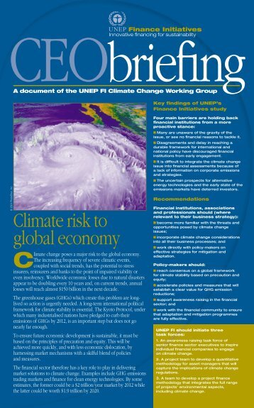 Climate risk to global economy