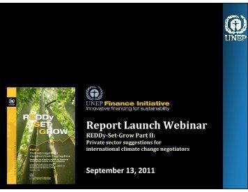 Presentation slides - UNEP Finance Initiative