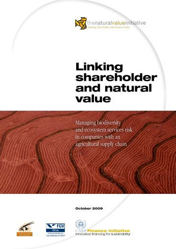 Linking shareholder and natural value - UNEP Finance Initiative