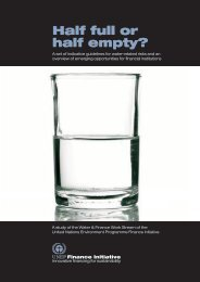 Half full or half empty? - UNEP Finance Initiative