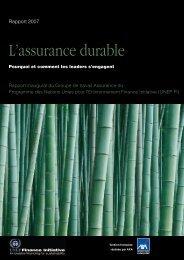 L'assurance durable - UNEP Finance Initiative