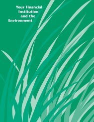 Your Financial Institution and the Environment - UNEP Finance ...