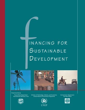 Financing for Sustainable Development - UNEP Finance Initiative
