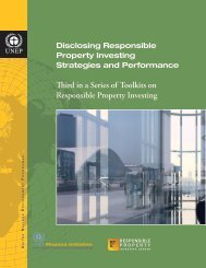 Disclosing Responsible Property Investing Strategies and ...