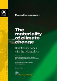 The materiality of climate change - UNEP Finance Initiative