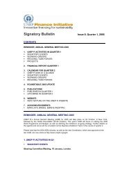 Signatory Bulletin - UNEP Finance Initiative