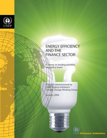 energy efficiency and the finance sector - UNEP Finance Initiative